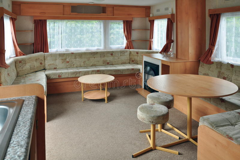 Interior of caravan wagon or trailer stock image image for A l interieur trailer