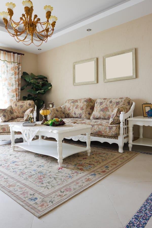 Interior caro luxuoso da sala de visitas foto de stock