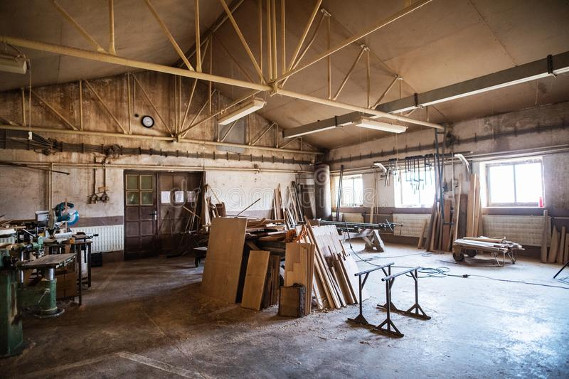 Download An Interior Of Carpentry Workshop. Stock Photo   Image Of Work,  Indoors: