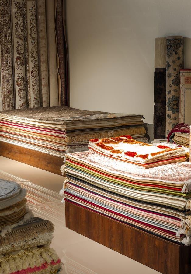 Carpet shop stock images