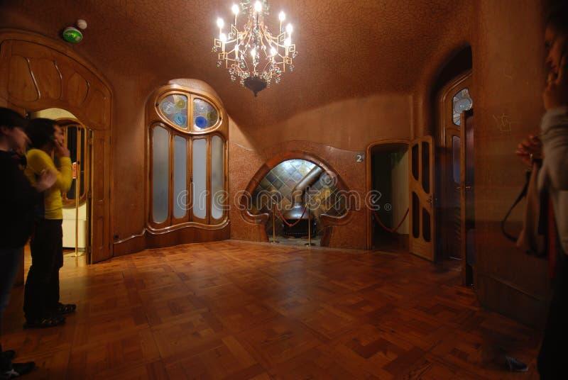 Interior of Casa Batllo. A building restored by Antoni Gaudi stock photos