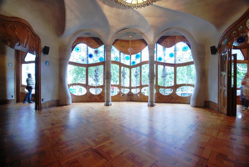 Interior of Casa Batllo. A building restored by Antoni Gaudi royalty free stock photo