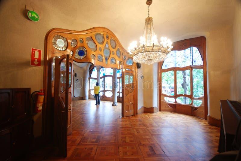 Interior of Casa Batllo. A building restored by Antoni Gaudi royalty free stock image