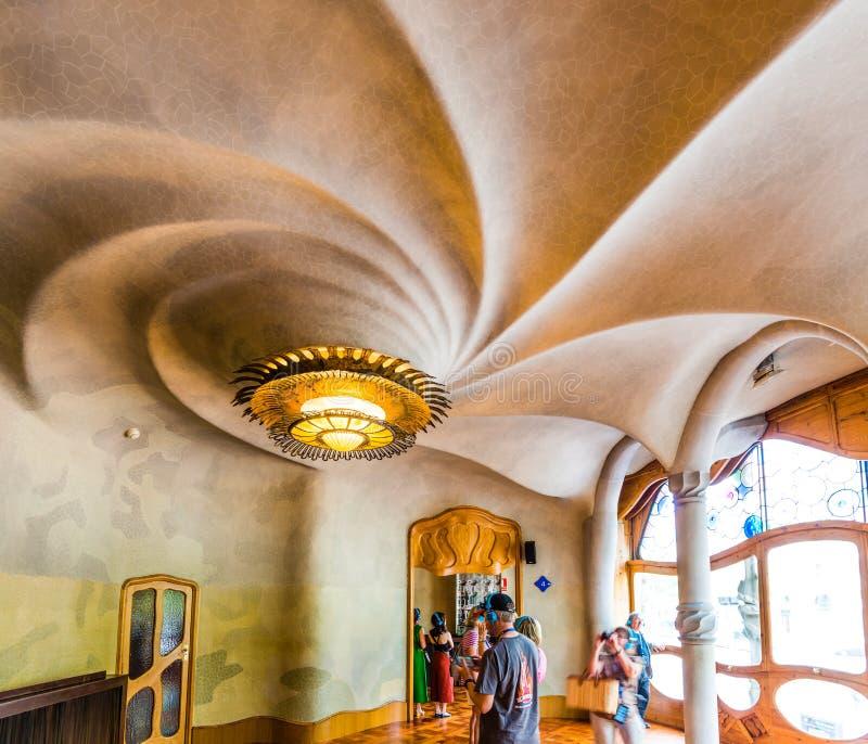 Interior of Casa Batllo royalty free stock photography