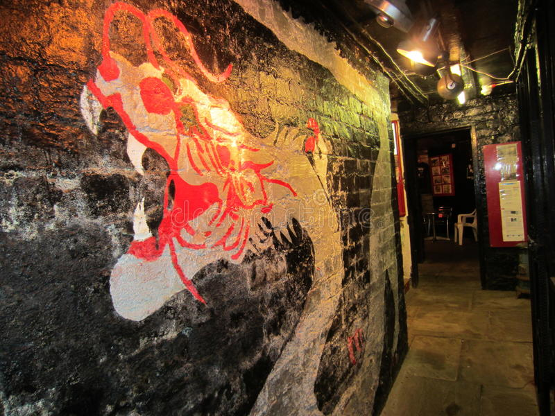 Interior of The Casbah Club, Liverpool, England royalty free stock photos