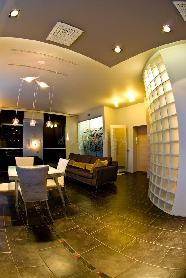 Interior casero contemporáneo   fotografía de archivo