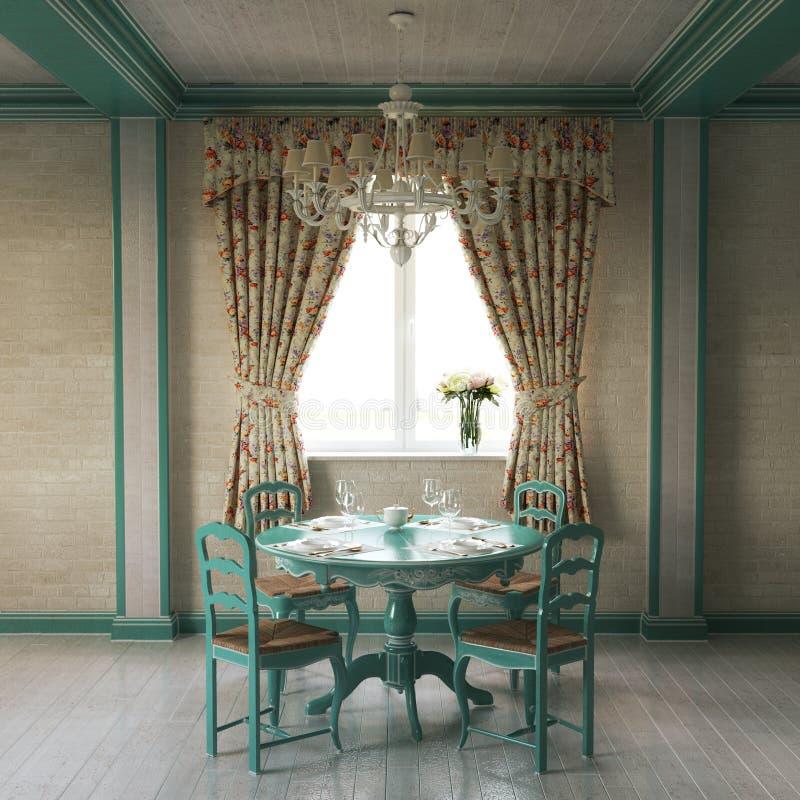 Interior casero hermoso de Provence fotografía de archivo