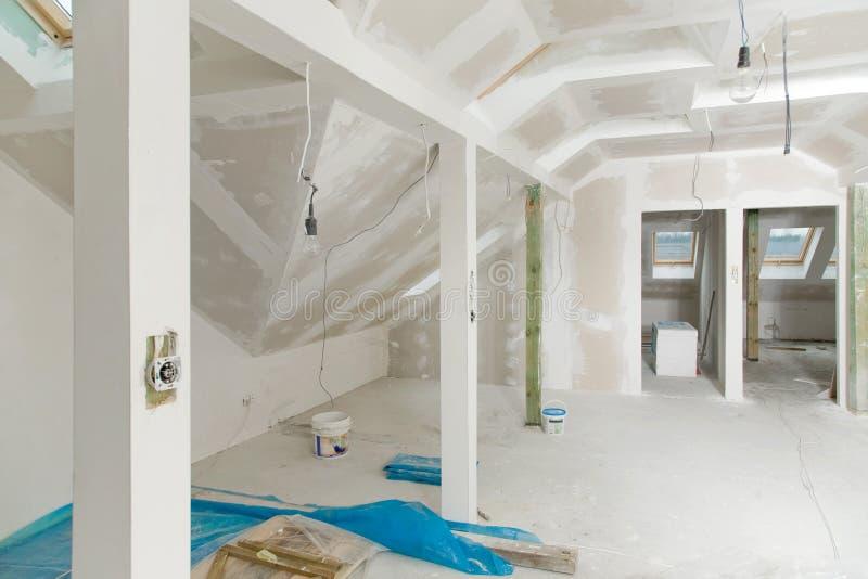 Interior casero inacabado imagen de archivo
