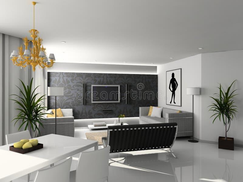 Interior casero moderno. stock de ilustración