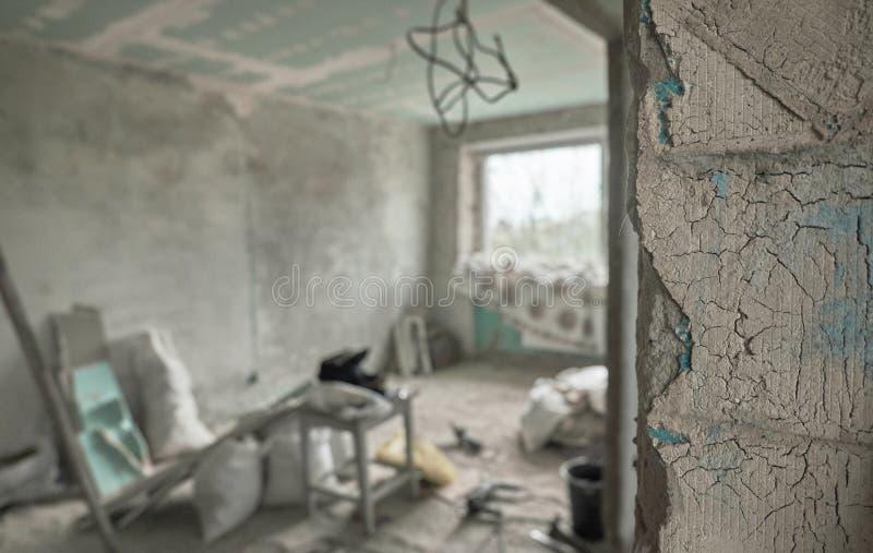 Interior casero que remodela foto de archivo libre de regalías