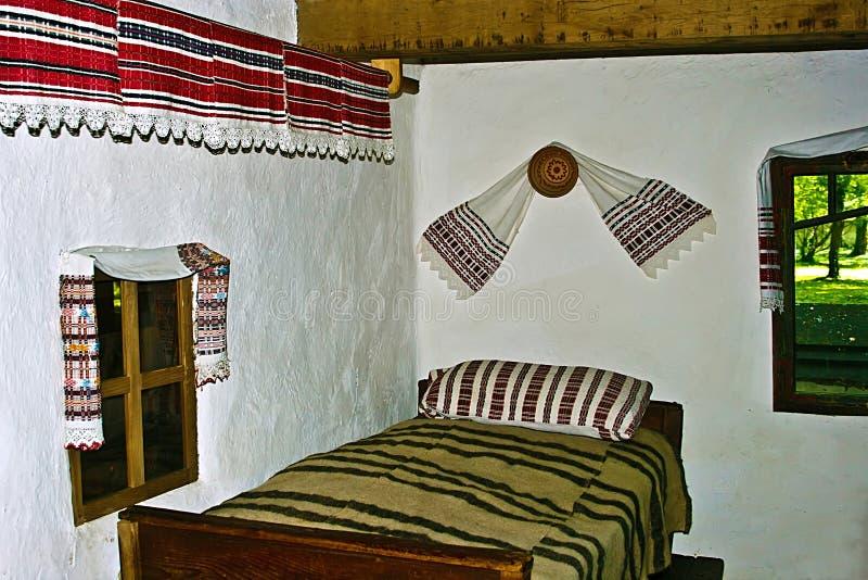 Interior casero tradicional rumano 2 imagen de archivo libre de regalías