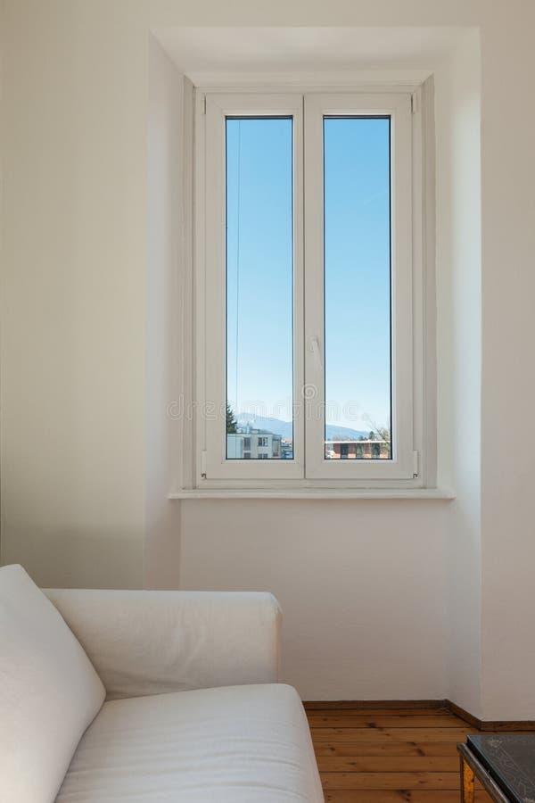 Hogar interior, ventana fotografía de archivo libre de regalías
