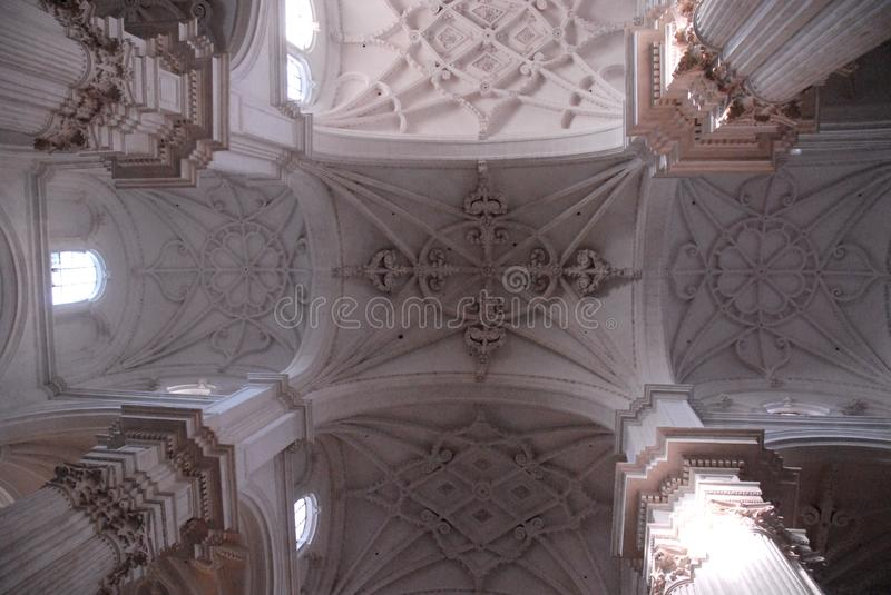 Interior of the Cathedral of Granada in Spain royalty free stock photos