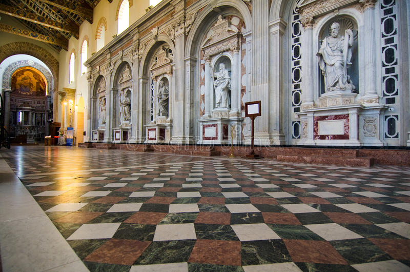 Interior of the Cathedral of Messina royalty free stock images