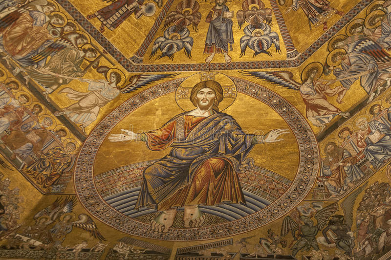 Interior of the Cathedral Santa Maria del Fiore in Florence royalty free stock image