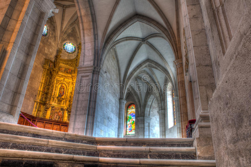 Interior of the Cathedral Santander royalty free stock photo