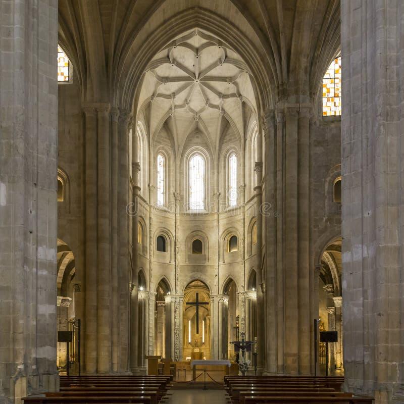 Interior cathedral of Santo Domingo de la Calzada, Rioja, Spain. Central chapel in the Cathedral of Santo Domingo de la Calzada, Rioja, Spain stock photo