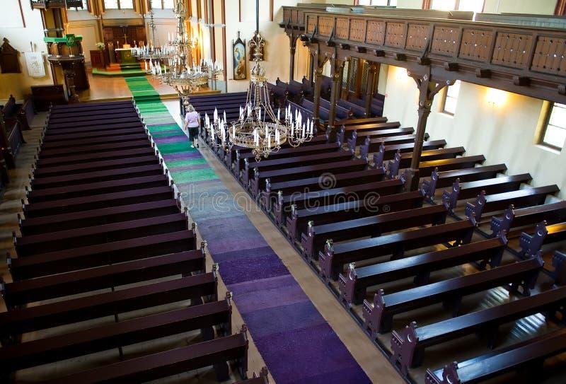 Interior of catholic church royalty free stock image