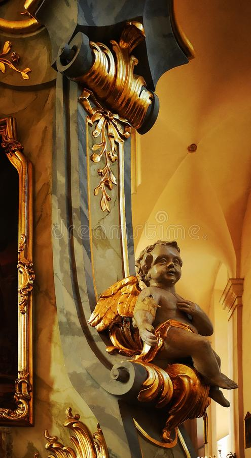 The interior of the Catholic Church royalty free stock images
