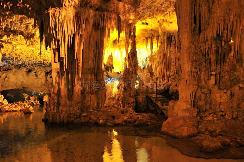 Grotta di Nettuno, Sardinia, Italy stock photography
