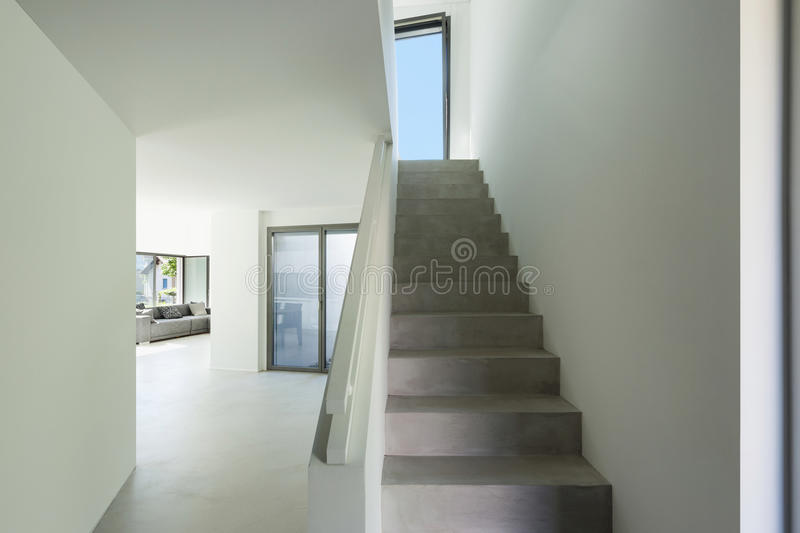 Interior, cement staircase royalty free stock images