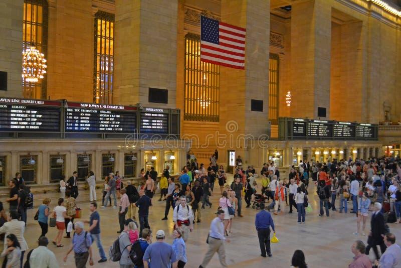 Interior central grande da estação em New York City fotografia de stock royalty free