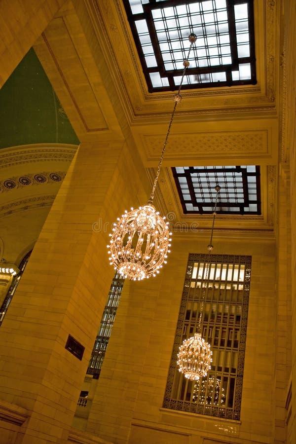 Interior central magnífico de la estación fotografía de archivo