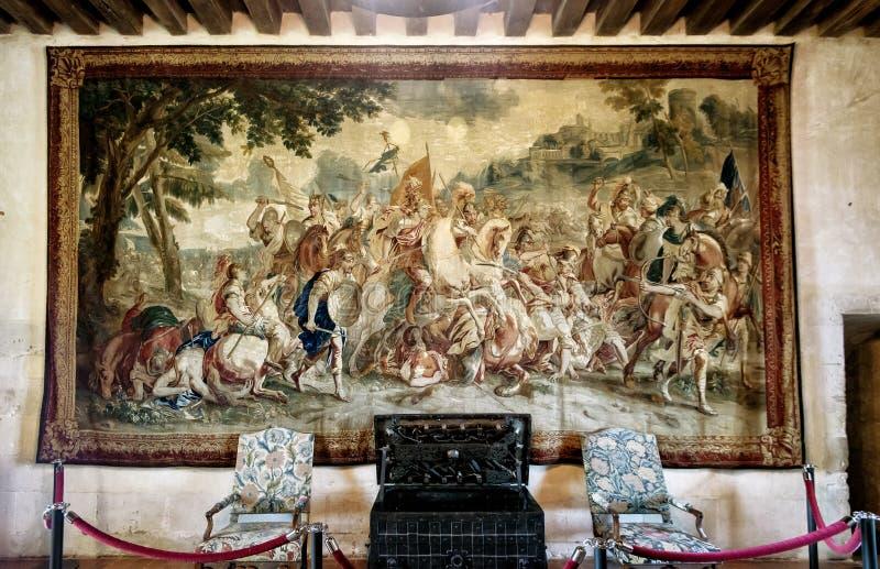 Interior Chateau de Chaumont-sur-Loire in Francia immagini stock libere da diritti