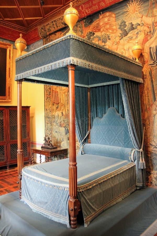 Interior Chateau de Chenonceau Chenonceaux francia fotografía de archivo libre de regalías