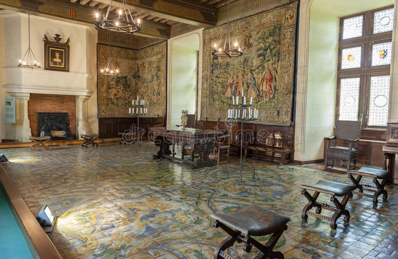 Interior of Chaumont castle. Walking through the halls of Chateau Chaumont royalty free stock photos