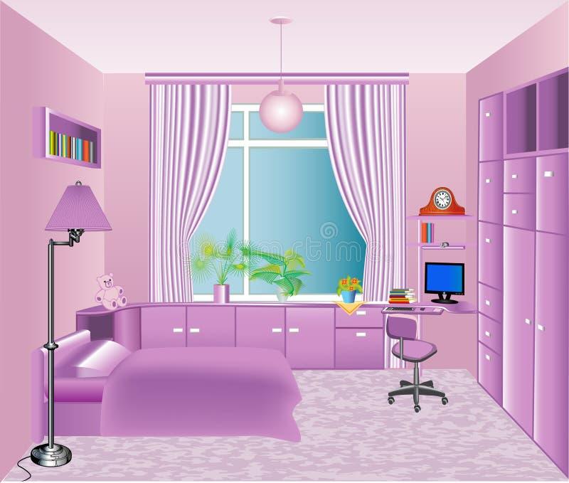 of the interior children's room royalty free illustration