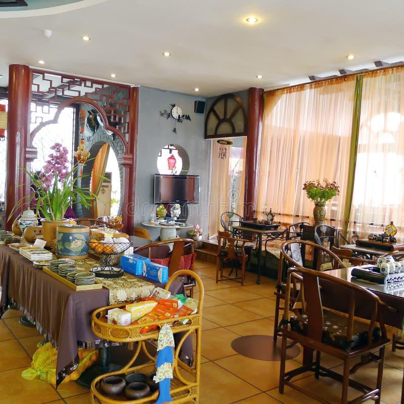 Interior Of Chinese Tea Restaurant Editorial Stock Image