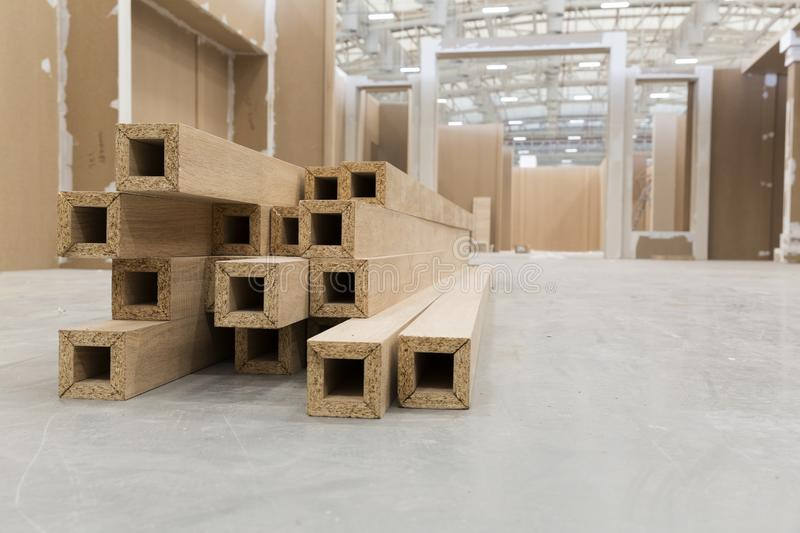 Interior with chipboard laminated. To design interiors with laminated chipboard stock photo