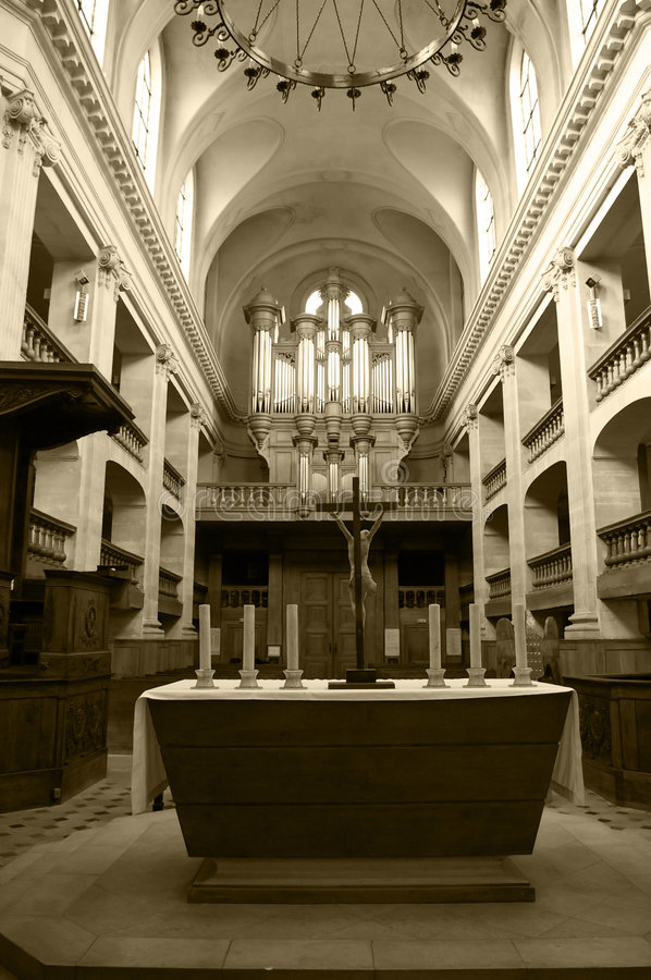 Interior of a church royalty free stock images