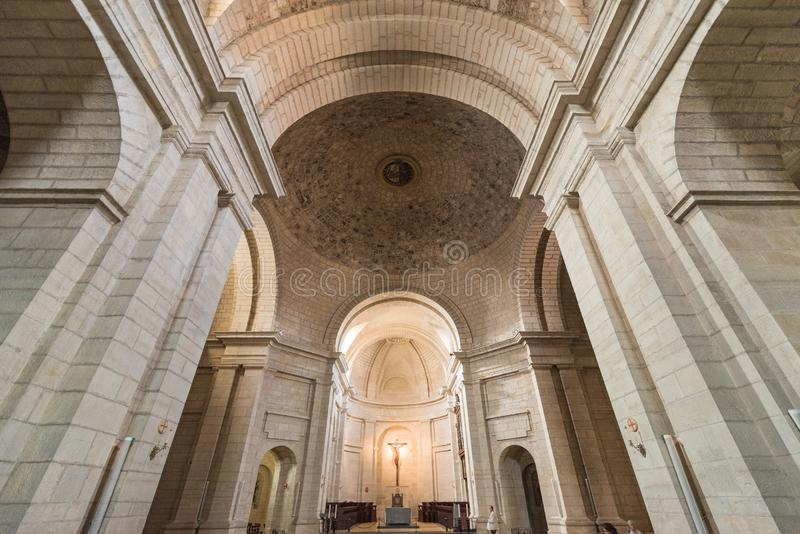 Interior of the church in ancient monastary of Santo Domingo de Silos, Burgos, Spain. royalty free stock images