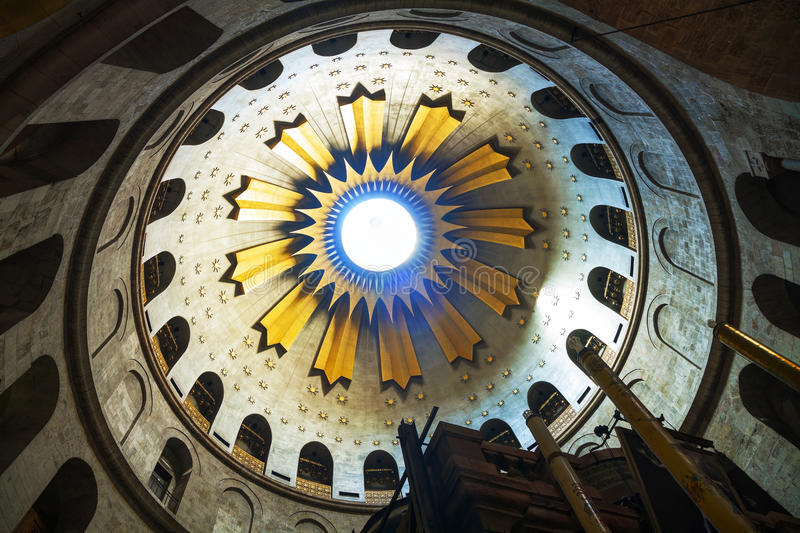 Interior of the Church of the Holy Sepulchre stock image