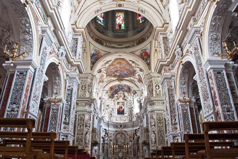 Download Interior Of Church La Chiesa Del Gesu Or Casa Professa In Palerm Royalty Free Stock Photo - Image: 36960695