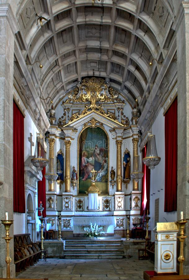 Interior of the Church of Mercy in Penafiel royalty free stock image