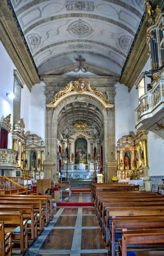 Interior of the Church of Mercy in Penafiel stock photos