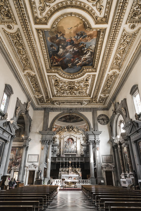 The Interior Of The Church Of The Monastery Of San Marco Stock Photo ...