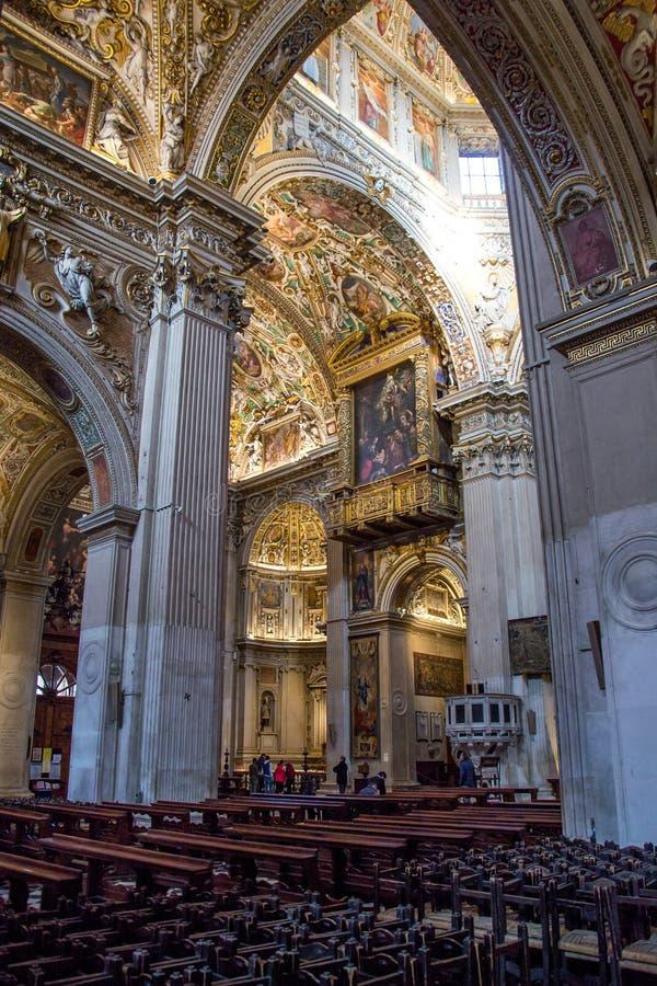 Interior of the church Santa Maria Maggiore in Bergamo, Italy stock image