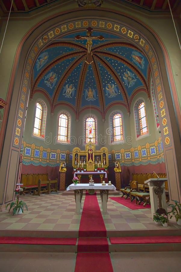Interior of the church of St. Anna in Sulzbach, Gaggenau, Germany.  royalty free stock photo