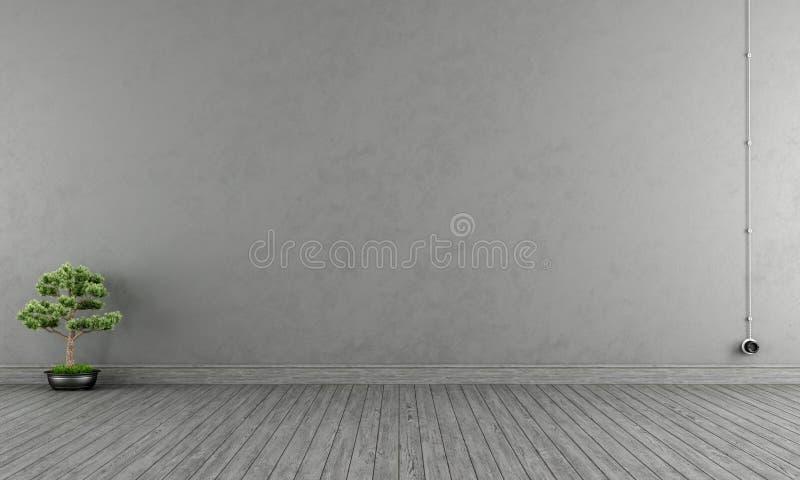 Interior cinzento vazio ilustração royalty free