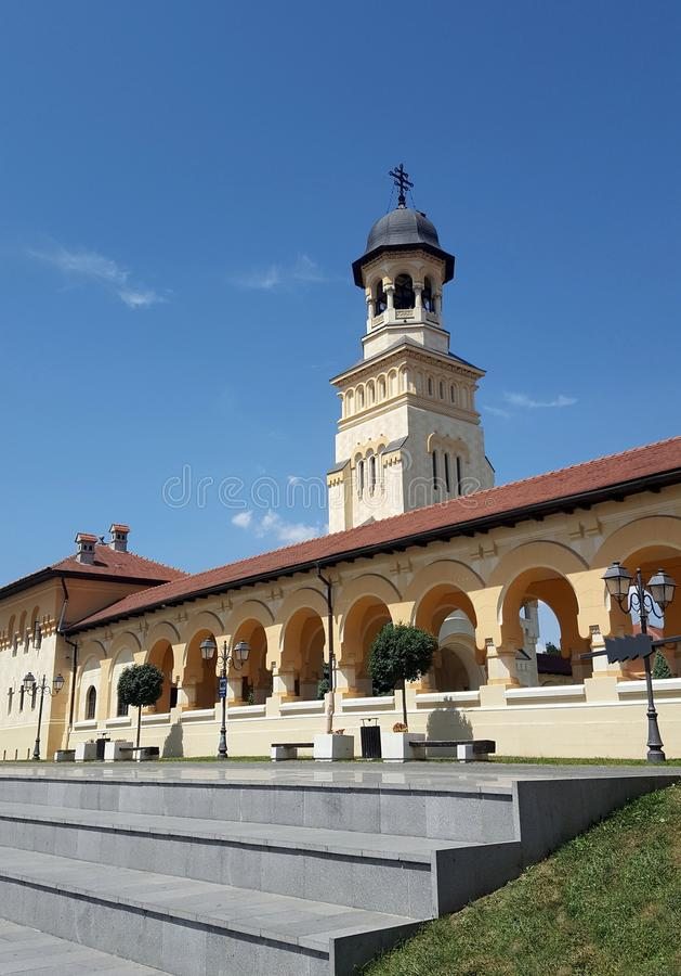 Interior of citadel Alba Iulia, Transylvania, Romania. Interior of citadel, Alba Iulia, Transylvania, Romania stock photo