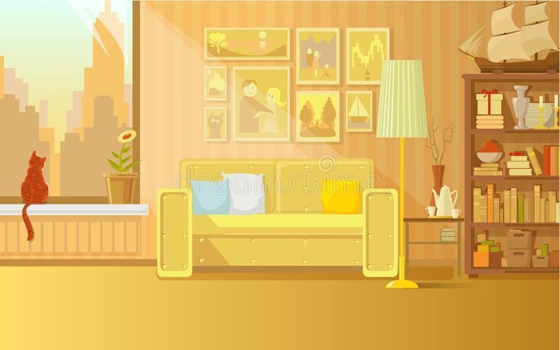 The interior of a city apartment royalty free stock photography