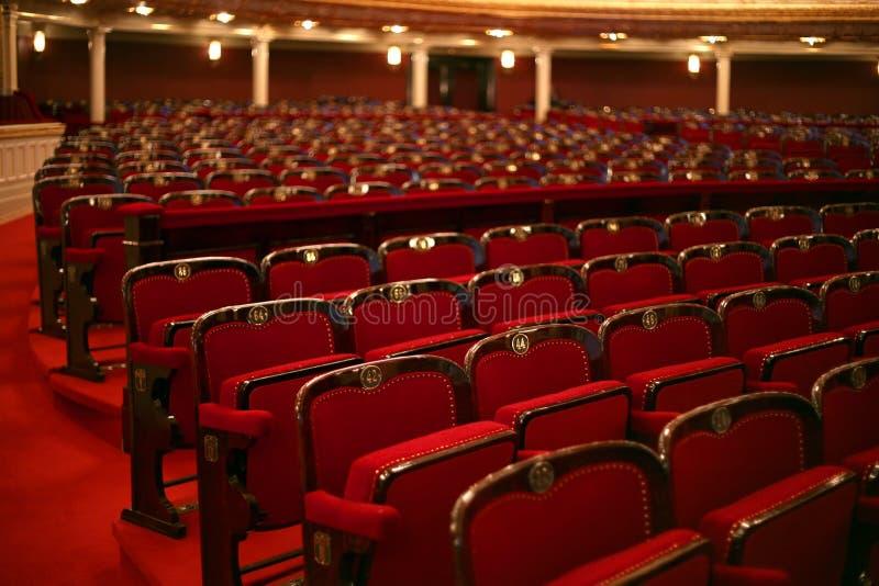 Interior clásico del teatro fotografía de archivo libre de regalías