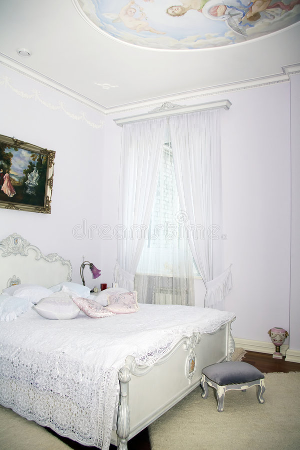 Interior clásico - dormitorio fotografía de archivo