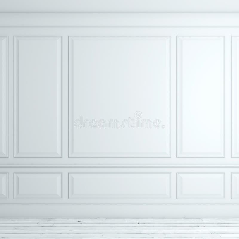 Interior clássico branco imagens de stock royalty free