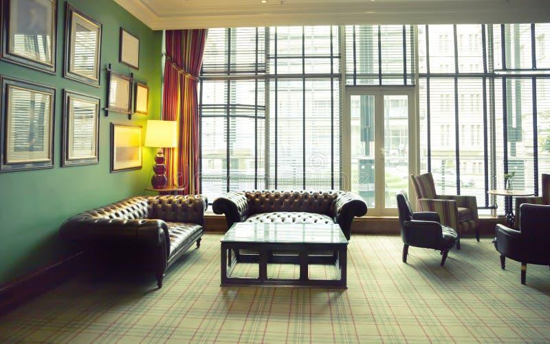 Interior clássico do hotel imagem de stock royalty free