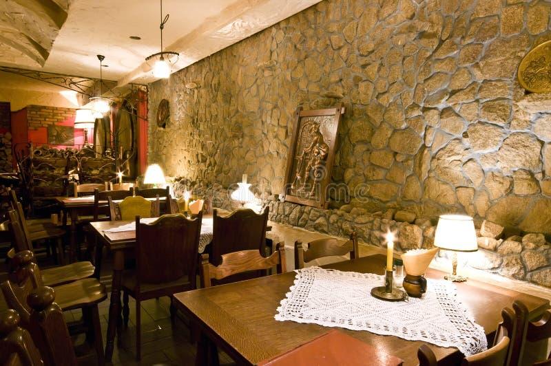 Interior clássico do restaurante imagem de stock royalty free